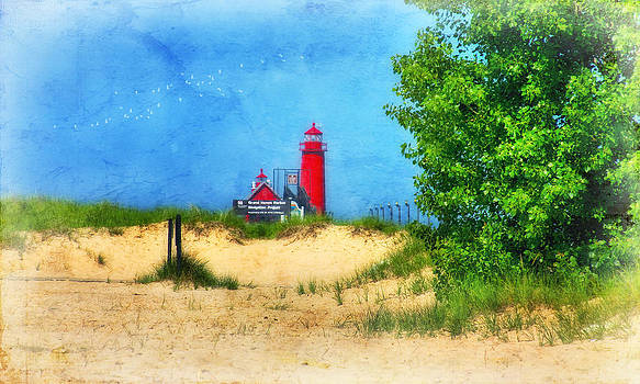Grand Haven Lighthouse by Joan Bertucci