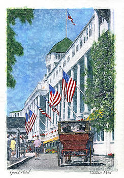 Grand Hotel Carriage-Watercolor by Candace West