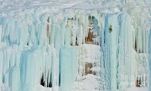 Grand Island Ice Climbing by Mike Wilkinson