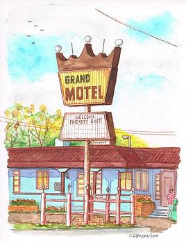 Grand Motel in Route 66, Williams, Arizona by Carlos G Groppa