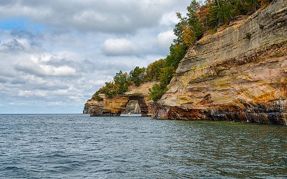 Grand Portal at Pictured Rocks by John M Bailey