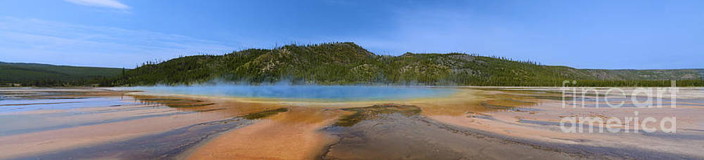 Tim Mulina - Grand Prismatic Spring in Yellowstone Panorama
