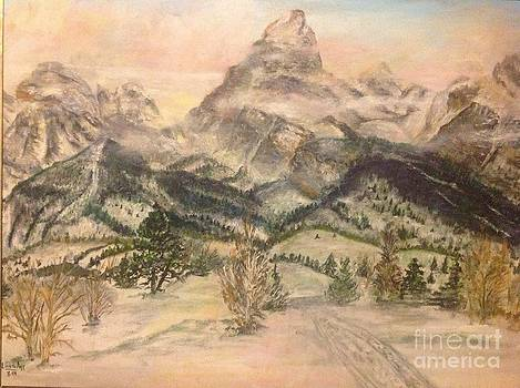 Grand Tetons in winter by Linea App