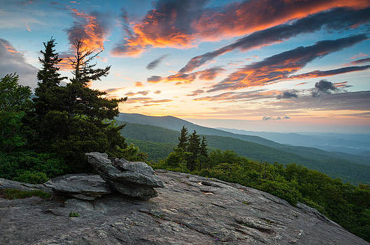 Grandfather Mountain Blue Ridge Parkway NC Beacon Heights at Sunrise by Dave Allen