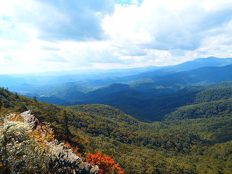 Grandfather Mountain TN View by Cindy Croal