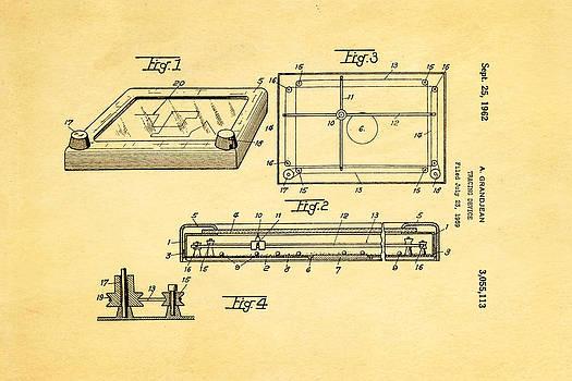 Ian Monk - Grandjean Etch A Sketch Patent Art 1962