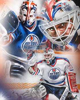 Grant Fuhr by Mike Oulton