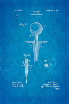 Ian Monk - Grant Golf Tee Patent Art 1899 Blueprint