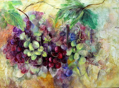 Grape Abstraction by Elaine Bailey