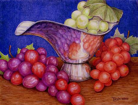 Grapes on Silver by Tanja Ware