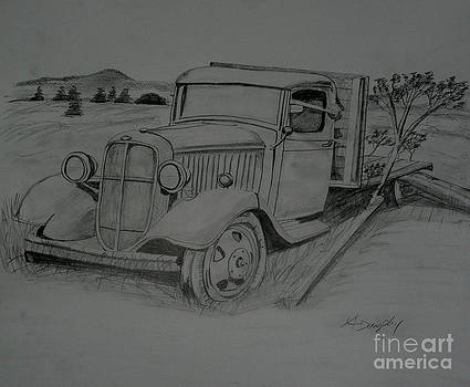 Graphite Chevrolet Truck by Anthony Dunphy