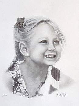 Graphite Portrait Drawing by Michelle Harrington