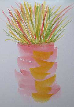 Grasses in Vase by Cindy Lawson-Kester