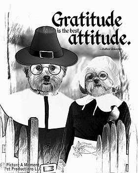 Gratitude is the best Attitude -2 by Kathy Tarochione