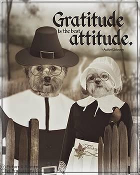 Gratitude is the best Attitude -3 by Kathy Tarochione