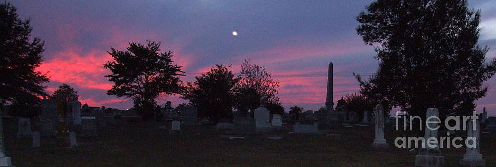 Grave yard sunset by Michelle Cawthon