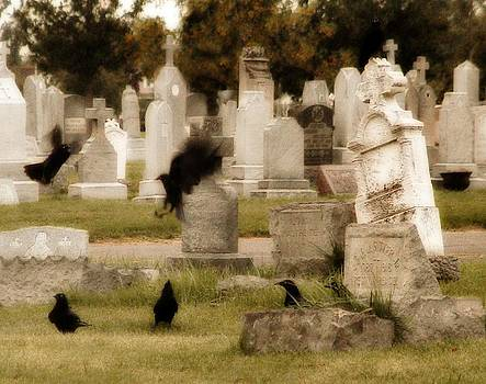 Gothicrow Images - Frolicking Graveyard Crows