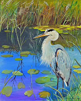 Great Blue Heron by Alvin Hepler