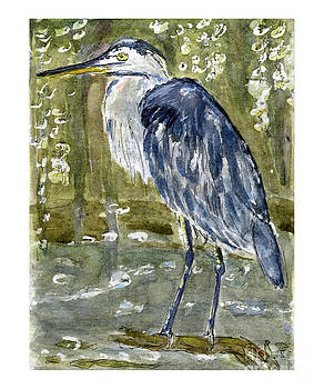 Great Blue Heron by Andrea Rubinstein