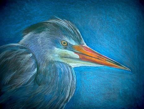 Great Blue Heron by Linda Nielsen