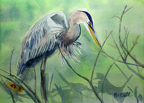 Great Blue Heron of Palm Beach County by Randy Bell