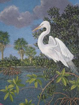 Great Egret by Bonnie Golden