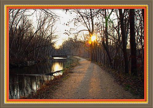 Joe Paradis - Great Falls Tow Path Bridge at Dawn w Border