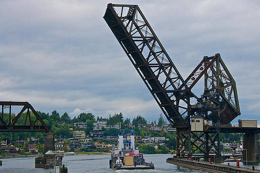 Steven Lapkin - Great Northern Railroad Bridge Ballard Seattle Washington USA