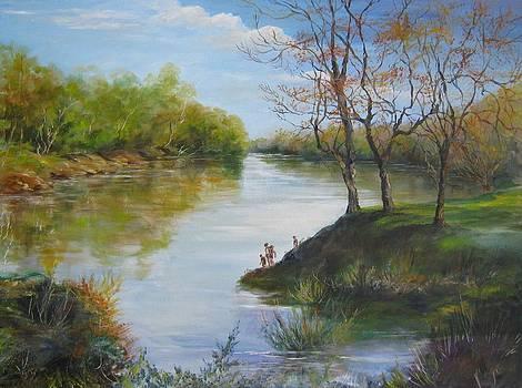 SOLD  Pee Dee River 2014 by Gloria Turner
