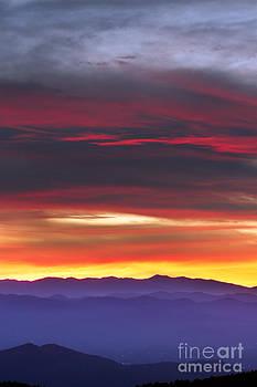 Great Smokie Mountains Beautiful Sunset by Dustin K Ryan