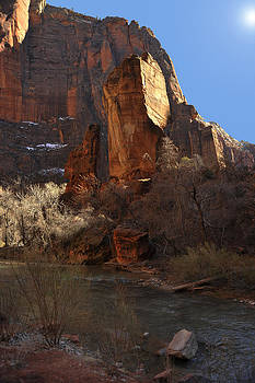 Great White Throne Zion Park by David Marr
