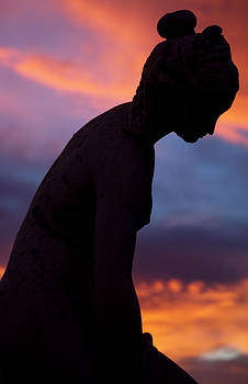 Grecian Lady Statue In Sunset by Austin Brown