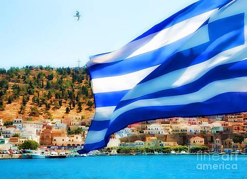 Justyna Jaszke JBJart - Greek flag