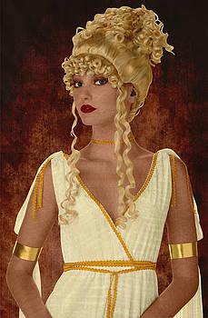 Greek goddess marquetry by Zsolt Sesztak