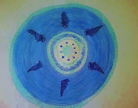 Greek Shell Mosaic by Karen Jensen