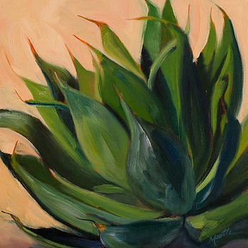 Green Agave Left by Athena Mantle Owen