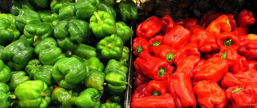 Green and Red Pepper by Buzz Coe