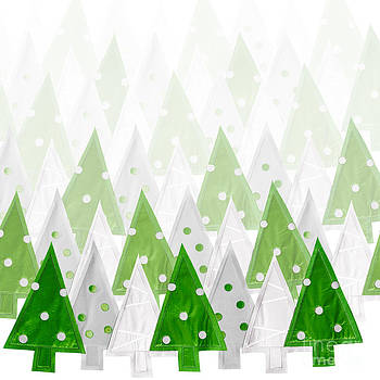 Jo Ann Snover - Green Christmas tree background