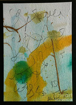 Green circle abstract by Gloria Cooper