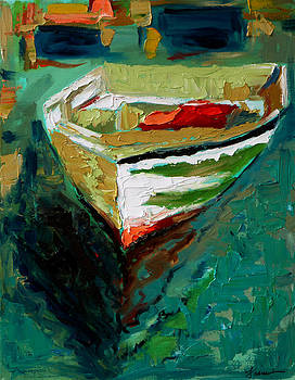 Green Dinghy by Francoise Lynch