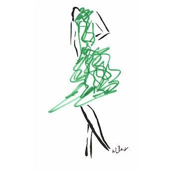 Mark Wilcox - Green Dress 1