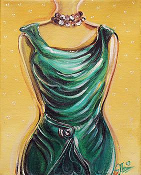 Green Dress by Jennifer Treece
