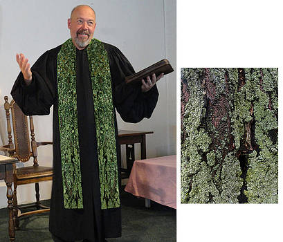 Green Earth 2 Cotton Clergy Stole by Julie Rodriguez Jones