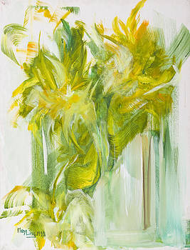 May Ling Yong - Green Flowers