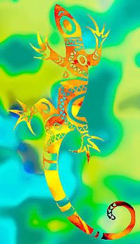 Green Gecko by William Braddock