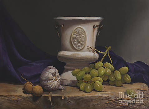 Green Grapes by Margit Sampogna
