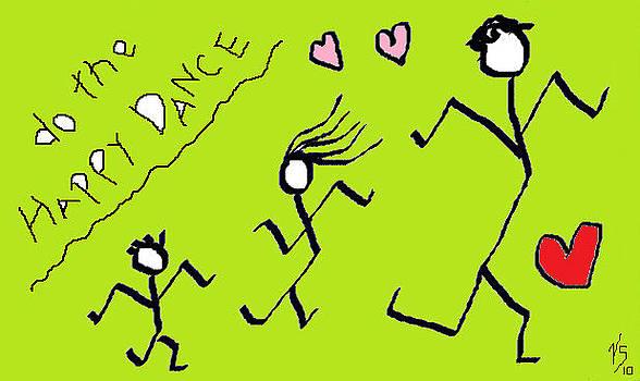 Green happy Dance by Vivian Sutherland