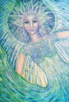 Green Healing Angel Love by Lila Violet