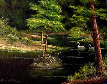 Green lake by Artist Karen Barton