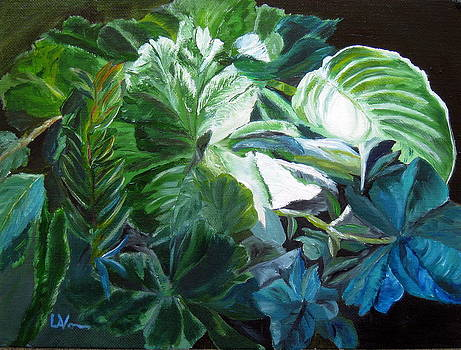 Green Leaves Study by LaVonne Hand
